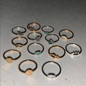Pack of pura vida rings